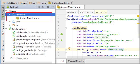 Android App Folder Structure - manifests folder in android app