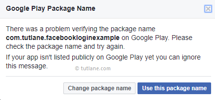 Android Integrate Facebook - Use Google Play Package Name