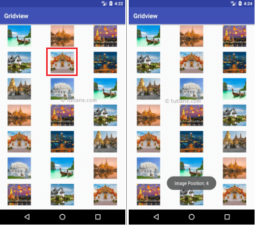 Android Gridview Example Result