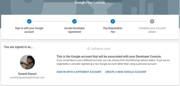 Google Play Console Registration Process Details