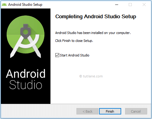 After Completion of Android Studio Installation