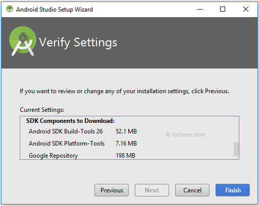 Android Studio Installation Setup Requirements
