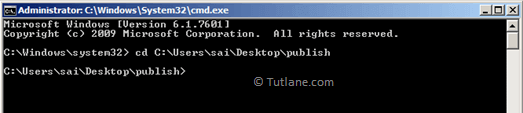 Access Publish Folder Path from Command Prompt