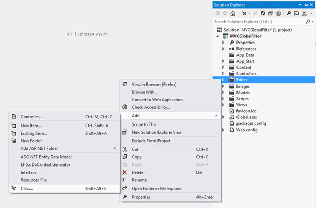 Global Action Filters in Asp Net MVC for Exception Handling