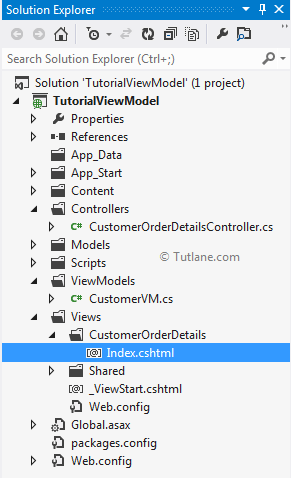 after add view our viewmodel asp.net mvc project structure