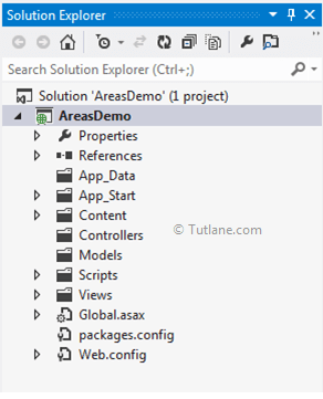 Areas project structure in asp.net mvc