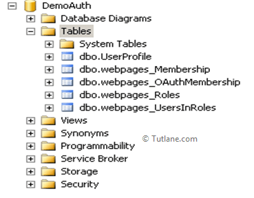 Database tables with asp.net mvc membership tables