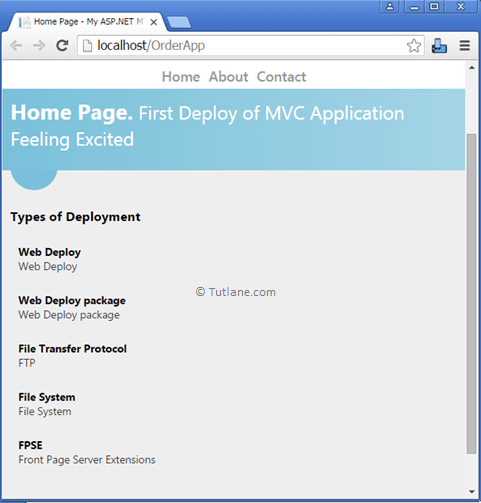 After Deply and Change Application in IIS Result of Deployed Asp.Net MVC Website