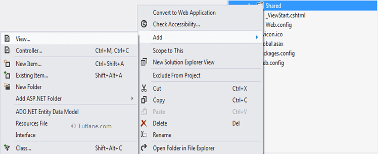Add layout view in asp.net mvc razor view