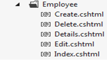 Employee Table in asp.net mvc application