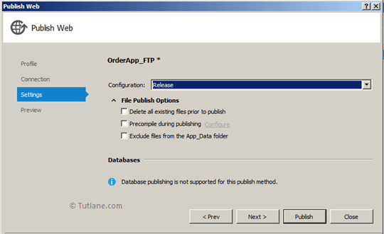 File Publish Options in FTP Website Deployment in Visual Studio