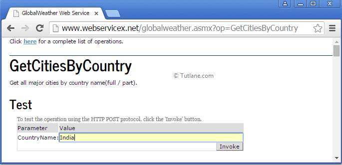 Accessing weather report web service in asp.net mvc