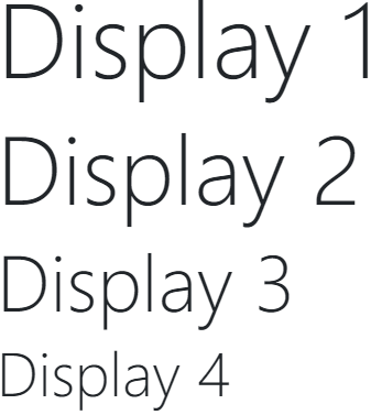 Bootstrap Display Headings Example Result