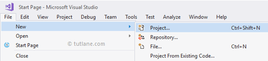Create a New C# Project using Visual Studio