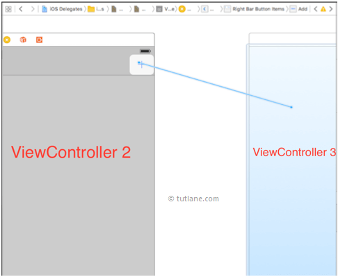 Add bar button to another viewcontroller in ios swift application