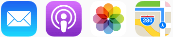 iOS Apps with Icons Sample Example