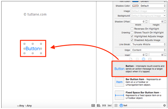 Add iOS Button Control to Storyboard in Xcode Editor