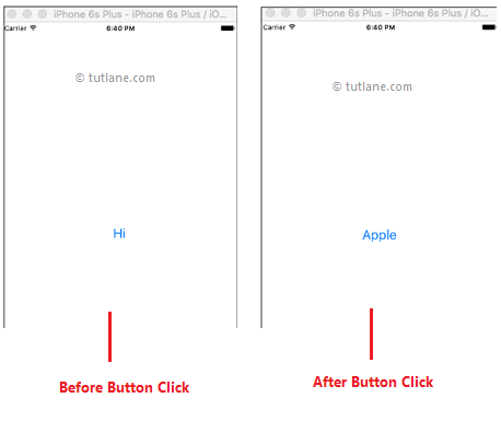 iOS Buttons Application Example Result