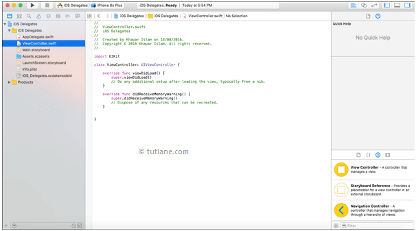 iOS Delegates Application View Controller Default Code in Xcode