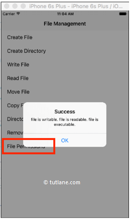 ios file system give permission for file to read example result