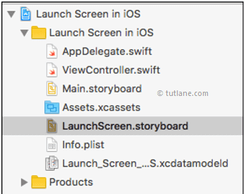 iOS launch screen storyboard in xcode
