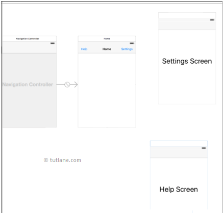 ios navigation bar or controller storyboard file after adding controls in xcode