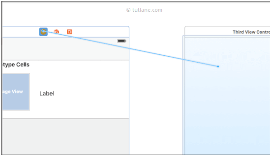 ios map viewcontroller to another view controller in xcode