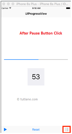 ios progress bar application example pause result