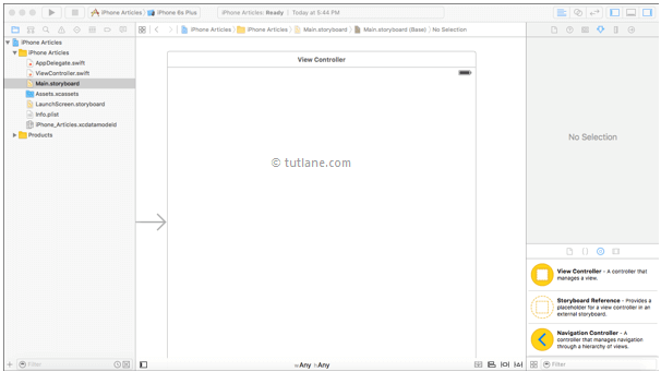 ios scroll view app storyboard file in xcode