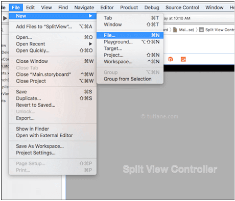 Add new class file in ios splitview application using xcode
