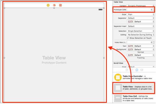 ios sqlite database app add tableview controller to view controller