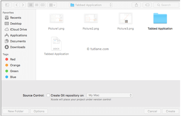 Give path to save new ios application in xcode
