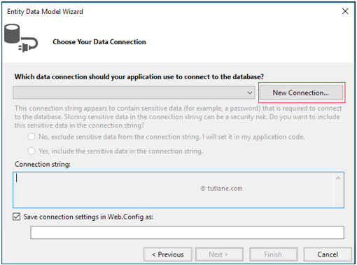 Configure database connection in LINQ to Entity Application