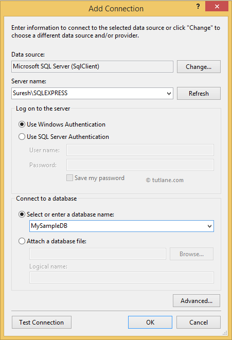Configure database connection in LINQ to SQL Application
