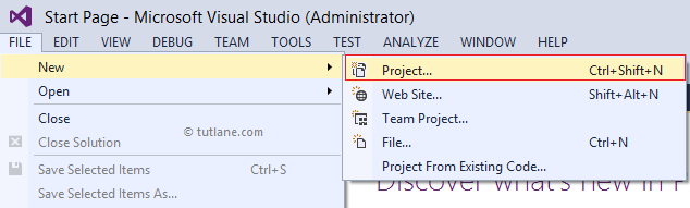 Create new linq to sql project in visual studio