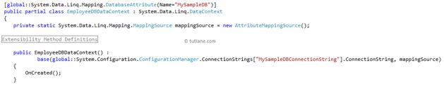 LINQ to SQL (DBML File) - Tutlane