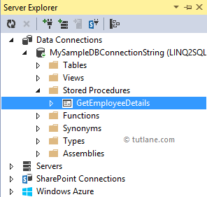 LINQ to SQL Stored Procedure - Tutlane