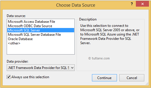 select new data source for linq to sql application