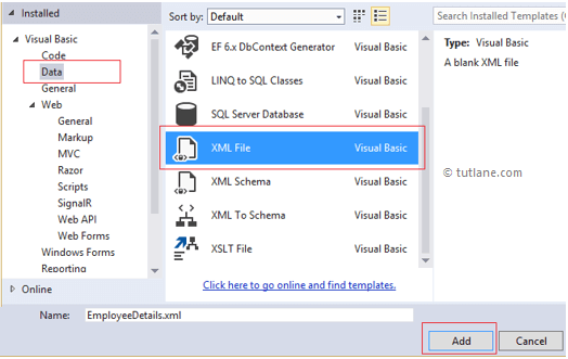 Add new xml file to linq to xml application in c#, vb.net