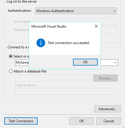 Test database connection in linq to entities application