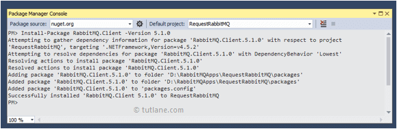 Install RabbitMQ.Client using Package Manager Console