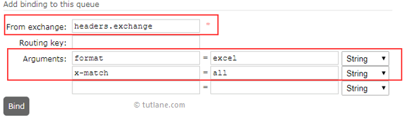 RabbitMQ Bind Headers Exchange to Queue