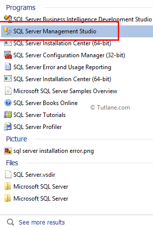 Open sql server management studio in system by searching in system