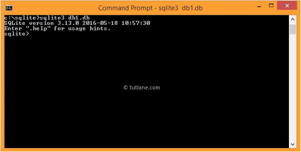 sqlite create new database using sqlite command line tool