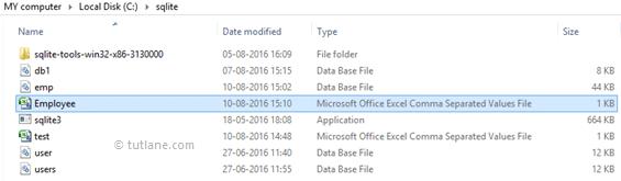 SQLite Export Data from Table to CSV File - Tutlane