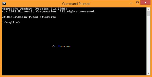 open sqlite command line tool to run commands