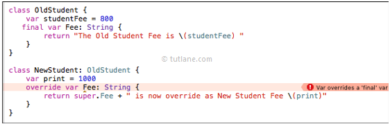 Swift Inheritance & Overriding - Tutlane